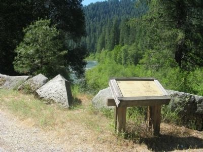 A Choice Location Marker Overlooking the North Yuba River image. Click for full size.