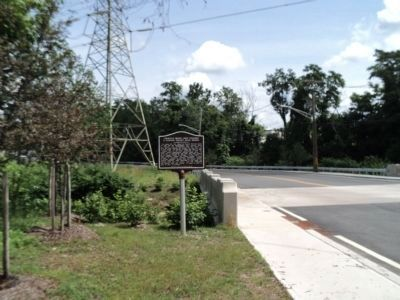 Marker at the Ramapo Valley Road Bridge image. Click for full size.