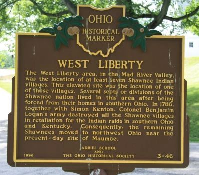 West Liberty / Glover Hall Marker image. Click for full size.