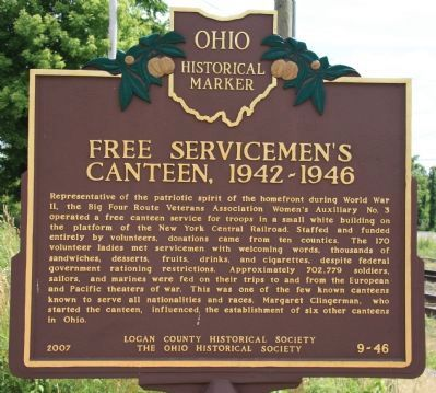 Free Servicemen's Canteen, 1942-1946 Marker image. Click for full size.