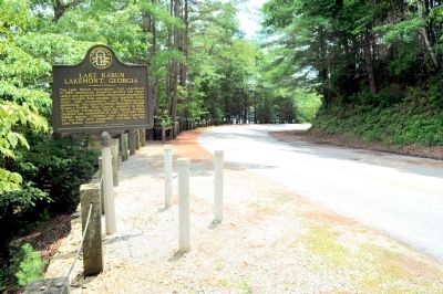 Lake Rabun Marker, Side 2 image. Click for full size.