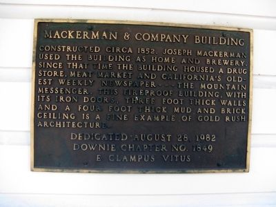 Mackerman & Company Building Marker image. Click for full size.