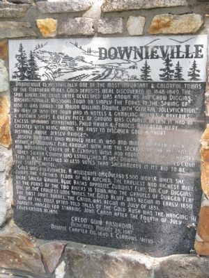 Downieville Marker image. Click for full size.