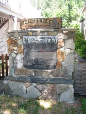 Downieville Marker at Clamper Park image. Click for full size.