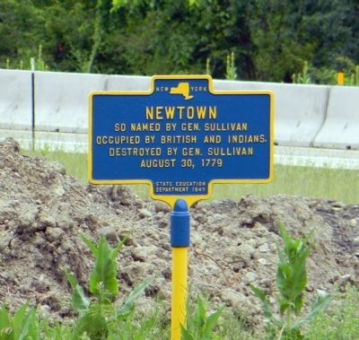 Newtown Marker image. Click for full size.