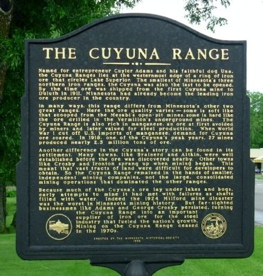 The Cuyuna Range Marker image. Click for full size.
