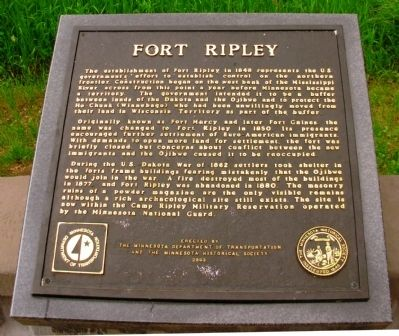 Fort Ripley Marker image. Click for full size.