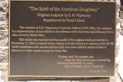 """The Spirit of the American Doughboy "" Marker back panel image. Click for full size."