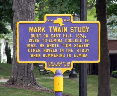 Mark Twain Study Marker image. Click for full size.