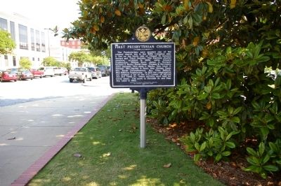 First Presbyterian Church Marker, Side 1 image. Click for full size.