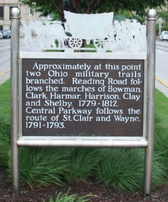 Ohio Military Trails Marker image. Click for full size.