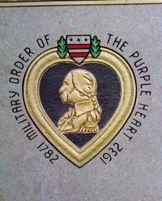 Detail of Purple Heart Memorial image. Click for full size.