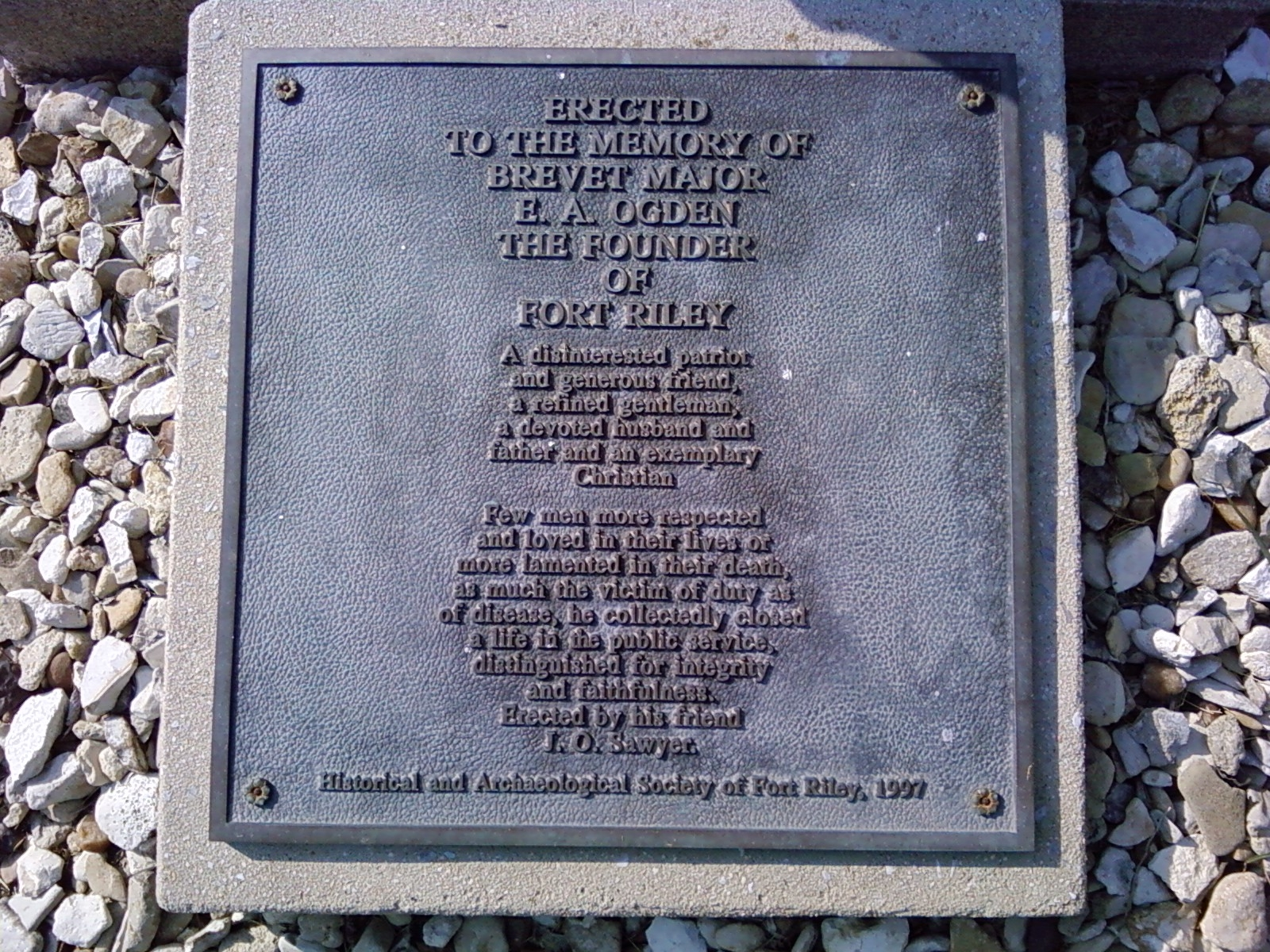 North side plaque