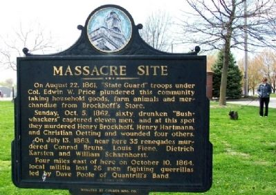 Massacre Site Marker (Side A) image. Click for full size.