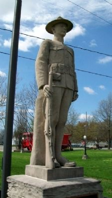 Concordia Veterans Memorial Statue image. Click for full size.