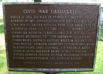 Civil War Casualties Marker image. Click for full size.