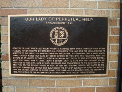Our Lady of Perpetual Help Marker image. Click for full size.