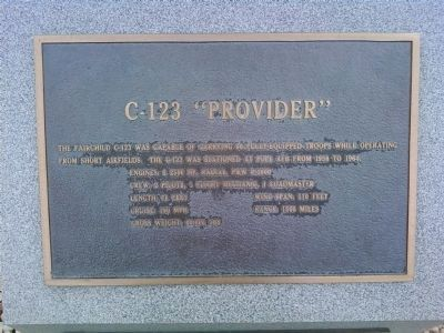 "C-123 ""Provider"" Marker (middle) image. Click for full size."