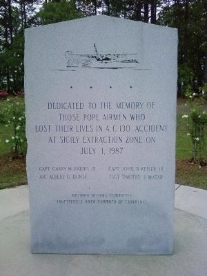 Pope Airmen Memorial Marker image. Click for full size.