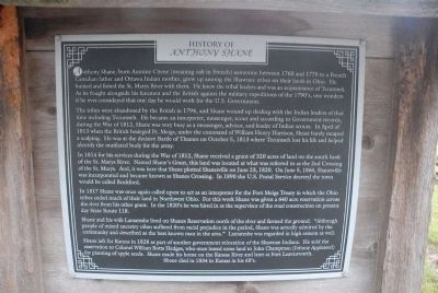 History of Anthony Shane Marker image. Click for full size.