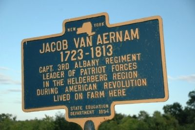 Jacob Van Aernam Marker image. Click for full size.