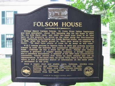 Folsom House Marker image. Click for full size.