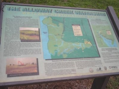 The Alloway Creek Watershed Marker image. Click for full size.