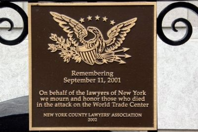 9-11 Memorial Marker image. Click for full size.