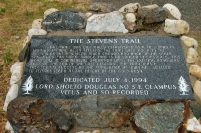 The Stevens Trail Marker image. Click for full size.