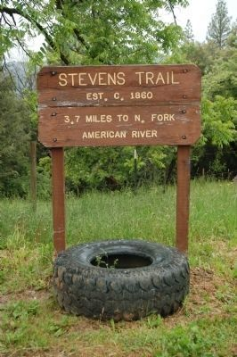 The Stevens Trail Trailhead Sign. image. Click for full size.