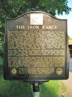 The Iron Range Marker image. Click for full size.