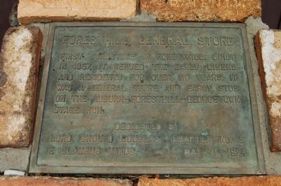 Foresthill General Store Marker image. Click for full size.
