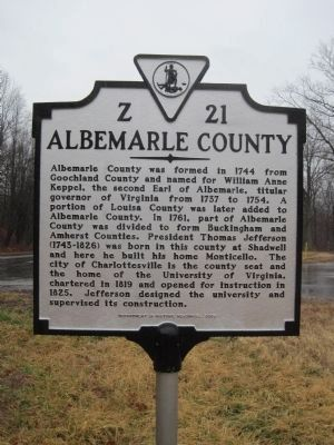 Albemarle County Face of Marker image. Click for full size.