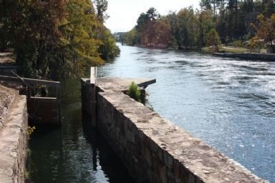 The Augusta Canal Headgate Locks, adjacent to Tow Path image. Click for full size.