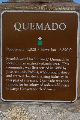 Quemado Marker image. Click for full size.