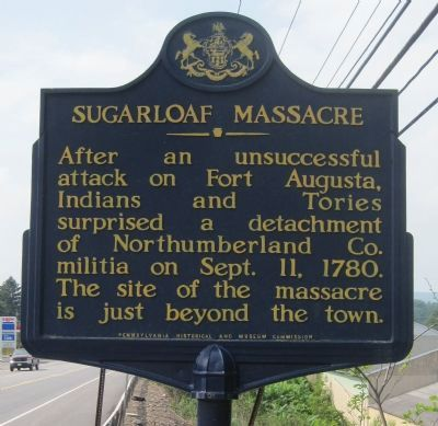 Sugarloaf Massacre Marker image. Click for full size.