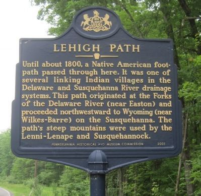 Lehigh Path Marker image. Click for full size.