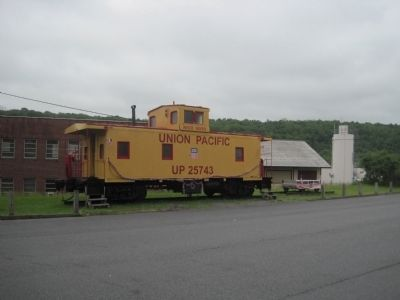 Union Pacific caboose on display nearby image. Click for full size.