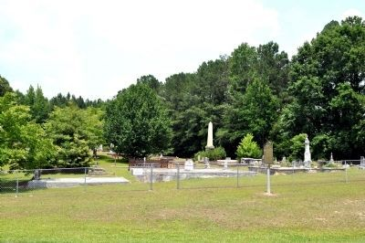 The Marker and the Bethsaida Baptist Church Cemetery image. Click for full size.
