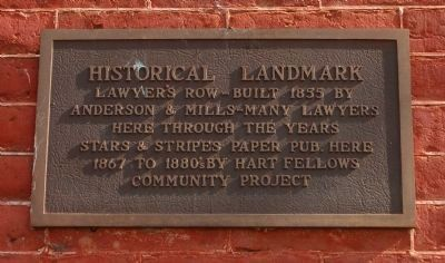 Lawyers Row Marker image. Click for full size.