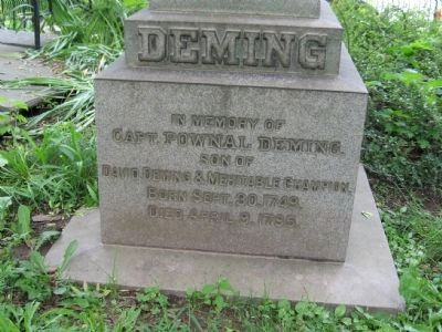 Capt. Pownal Deming Monument image. Click for full size.
