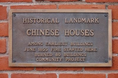 Chinese Houses Marker image. Click for full size.