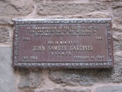 Plaque on the Building image. Click for full size.