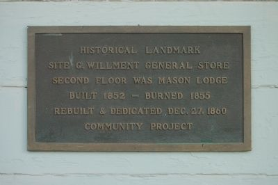 G. Willment General Store Marker image. Click for full size.