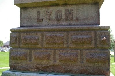 Closeup of Lyon Monument image. Click for full size.