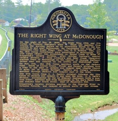 The Right Wing at McDonough Marker image. Click for full size.