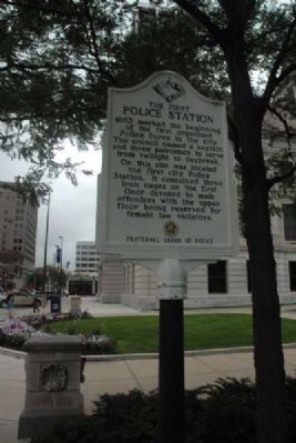 The First Police Station Marker image. Click for full size.