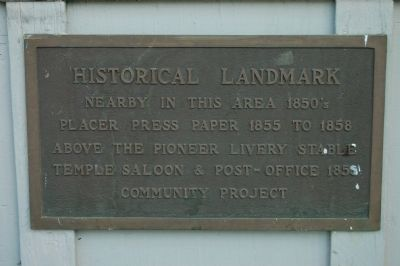 Placer Press Marker image. Click for full size.