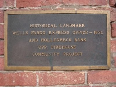 Wells Fargo Express Office – 1852 Marker image. Click for full size.