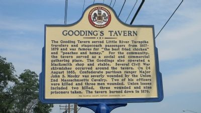 Gooding's Tavern Marker image. Click for full size.